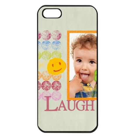 Happy Kids, Family By Jo Jo   Apple Iphone 5 Seamless Case (black)   Lj8cic4l9e83   Www Artscow Com Front
