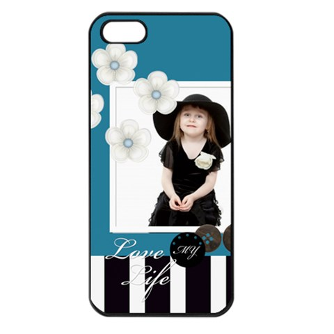 Happy Kids, Family By Jo Jo   Apple Iphone 5 Seamless Case (black)   Htnr6dzj2j8q   Www Artscow Com Front