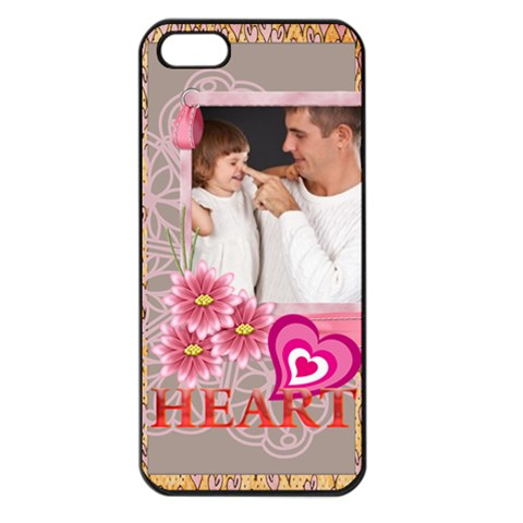 Happy Kids, Family By Jo Jo   Apple Iphone 5 Seamless Case (black)   3g2htghomsxy   Www Artscow Com Front