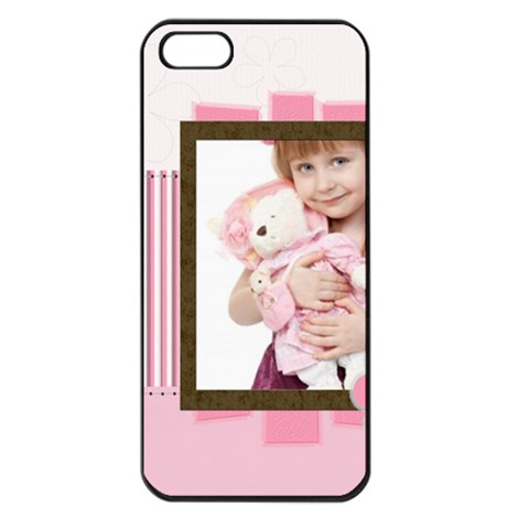 Happy Kids, Family By Jo Jo   Apple Iphone 5 Seamless Case (black)   No47i6p1zbdv   Www Artscow Com Front