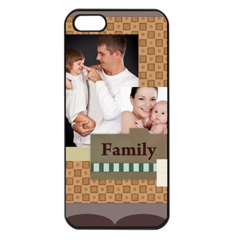 Happy Kids, Family By Jo Jo   Apple Iphone 5 Seamless Case (black)   T7i240jyobnp   Www Artscow Com Front