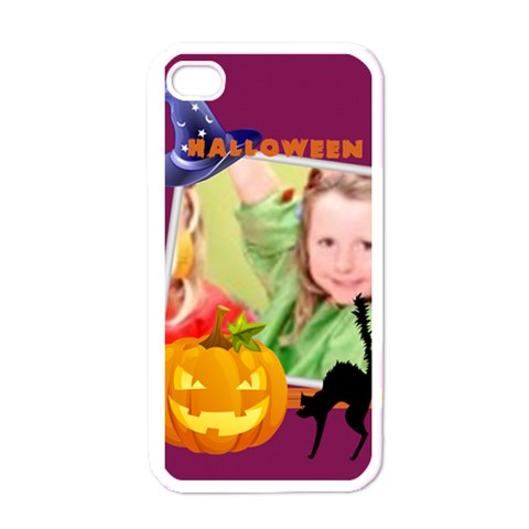 Halloween By Mac Book   Apple Iphone 4 Case (white)   3ayktef1uts6   Www Artscow Com Front