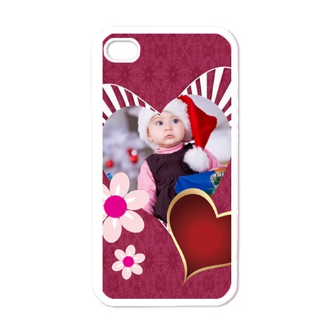 Love, Kids, Happy, Fun, Family, Holiday By Mac Book   Apple Iphone 4 Case (white)   9e2wlbxns7ky   Www Artscow Com Front