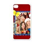 love, heart, happy ,red  - Apple iPhone 4 Case (White)