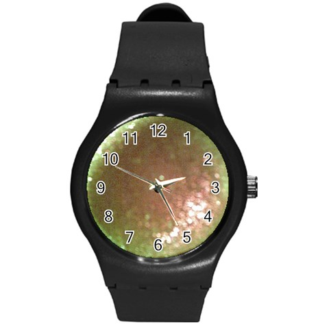 Gray Bling Bling  Watch (with Or Without Your Photo) By Riksu   Round Plastic Sport Watch (m)   N5tyx6pwh2hd   Www Artscow Com Front