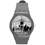the gate watch - Round Plastic Sport Watch (M)
