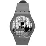 the gate watch - Round Plastic Sport Watch (M)