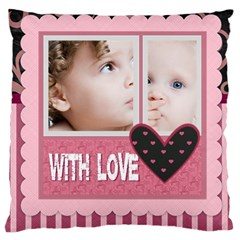 Flower Of Kids, Love, Happy By Mac Book   Large Cushion Case (two Sides)   Tbsetjcoksum   Www Artscow Com Front