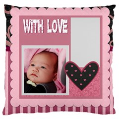 Flower Of Kids, Love, Happy By Mac Book   Large Cushion Case (two Sides)   Tbsetjcoksum   Www Artscow Com Back