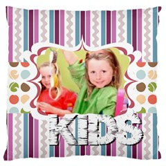 Flower Of Kids, Love, Happy By Mac Book   Large Cushion Case (two Sides)   80wo75e8l9r1   Www Artscow Com Front