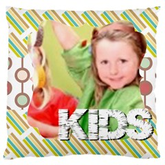 Flower Of Kids, Love, Happy By Mac Book   Large Cushion Case (two Sides)   80wo75e8l9r1   Www Artscow Com Back