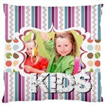 flower of kids, love, happy - Large Cushion Case (Two Sides)