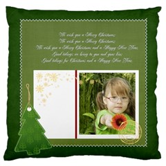 Merry Christmas, Xmas, Happy New Year  By Mac Book   Large Cushion Case (two Sides)   Emwy7768mc9y   Www Artscow Com Front