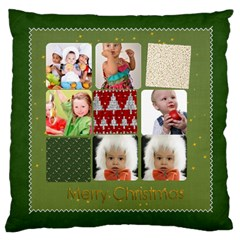Merry Christmas, Xmas, Happy New Year  By Mac Book   Large Cushion Case (two Sides)   Emwy7768mc9y   Www Artscow Com Back
