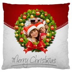 Merry Christmas, Xmas, Happy New Year  By Mac Book   Large Cushion Case (two Sides)   Lvwrsrdnm2jo   Www Artscow Com Front