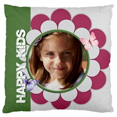 Love, Kids, Memory, Happy, Fun  By Joely   Large Cushion Case (two Sides)   Iyr72bhr4yan   Www Artscow Com Back
