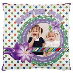 Love, Kids, Memory, Happy, Fun  By Joely   Large Cushion Case (two Sides)   Hdn2i973x8aq   Www Artscow Com Front