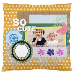 Love, Kids, Memory, Happy, Fun  By Joely   Large Cushion Case (two Sides)   Oe6t3hgcpx42   Www Artscow Com Front