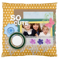 Love, Kids, Memory, Happy, Fun  By Joely   Large Cushion Case (two Sides)   Oe6t3hgcpx42   Www Artscow Com Back