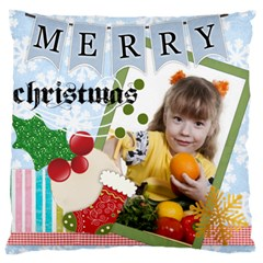Merry Christmas, Happy New Year, Xmas By Joely   Large Cushion Case (two Sides)   8xe5v11pky5s   Www Artscow Com Front