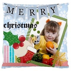 Merry Christmas, Happy New Year, Xmas By Joely   Large Cushion Case (two Sides)   8xe5v11pky5s   Www Artscow Com Back