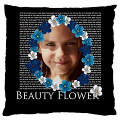 Flower Of Kids By Joely   Large Cushion Case (two Sides)   5uicn52oozlp   Www Artscow Com Back