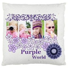 Love, Kids, Memory, Happy, Fun  By Joely   Large Cushion Case (two Sides)   Gch38xt2lixi   Www Artscow Com Front
