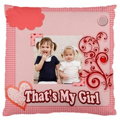 Love, Kids, Memory, Happy, Fun  By Joely   Large Cushion Case (two Sides)   9vqgtkhmzvfd   Www Artscow Com Front