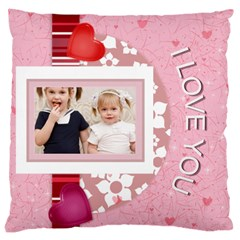 Love, Kids, Memory, Happy, Fun  By Joely   Large Cushion Case (two Sides)   85jw7n2e2qlw   Www Artscow Com Front