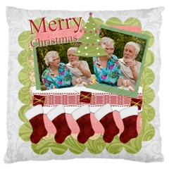 Merry Christmas, Happy New Year, Xmas By Joely   Large Cushion Case (two Sides)   Wskphvcik2uw   Www Artscow Com Front