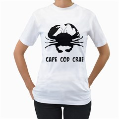 Cape Cod Crab White Womens  T Shirt by PatDaly718