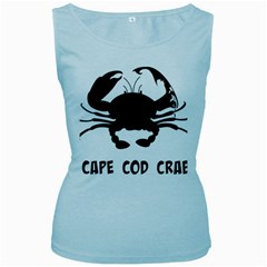 Cape Cod Crab Baby Blue Womens  Tank Top by PatDaly718