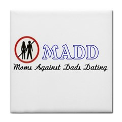 Madd Ceramic Tile by OrbTees