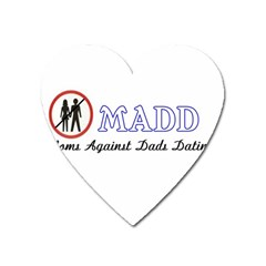 Madd Large Sticker Magnet (heart)