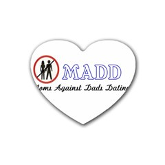 Madd Rubber Drinks Coaster (heart)