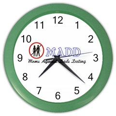 Madd Colored Wall Clock by OrbTees