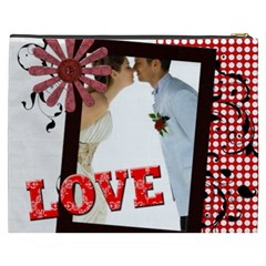 Love, Kids, Memory, Happy, Fun  By Jo Jo   Cosmetic Bag (xxxl)   P9phs55xezoc   Www Artscow Com Back