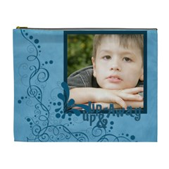 Flower , Kids, Happy, Fun, Green By Jacob   Cosmetic Bag (xl)   S6ldq5n4hqez   Www Artscow Com Front