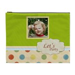 flower , kids, happy, fun, green - Cosmetic Bag (XL)