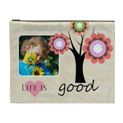 Flower , Kids, Happy, Fun, Green By Jacob   Cosmetic Bag (xl)   Tmawesf8o5dr   Www Artscow Com Front