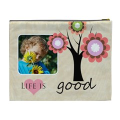 Flower , Kids, Happy, Fun, Green By Jacob   Cosmetic Bag (xl)   Tmawesf8o5dr   Www Artscow Com Back