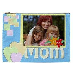 Flower , Kids, Happy, Fun, Green, Mothers Day By Jacob   Cosmetic Bag (xxl)   Mvqzxmp6rejf   Www Artscow Com Front