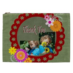 Flower , Kids, Happy, Fun, Green By Jacob   Cosmetic Bag (xxl)   Rwgip3q8le64   Www Artscow Com Front