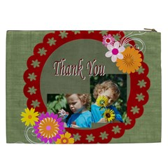 Flower , Kids, Happy, Fun, Green By Jacob   Cosmetic Bag (xxl)   Rwgip3q8le64   Www Artscow Com Back