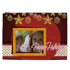 Merry Christmas, New Year, Happy, Family, Kids By Jacob   Cosmetic Bag (xxl)   Zvkxbjje47pz   Www Artscow Com Front