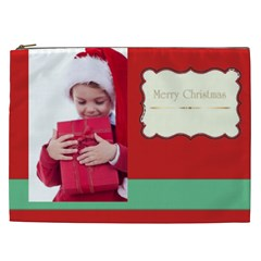 Merry Christmas, New Year, Happy, Family, Kids By Jacob   Cosmetic Bag (xxl)   Ua7qsn5q5awh   Www Artscow Com Front