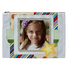 Merry Christmas, New Year, Happy, Family, Kids By Jacob   Cosmetic Bag (xxl)   Dza5k8vuc6cy   Www Artscow Com Front