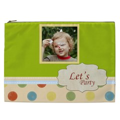 Kids, Love, Fun, Happy, Holiday,child, Love By Jacob   Cosmetic Bag (xxl)   1q5hik2xn80d   Www Artscow Com Front