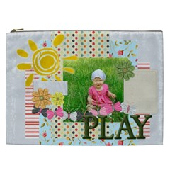 Kids, Love, Fun, Happy, Holiday,child, Love By Jacob   Cosmetic Bag (xxl)   M9hb2dziwlc5   Www Artscow Com Front