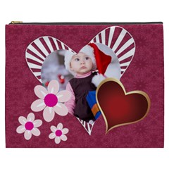Love, Kids, Happy, Fun, Family, Holiday By Mac Book   Cosmetic Bag (xxxl)   0knapzoy0qko   Www Artscow Com Front
